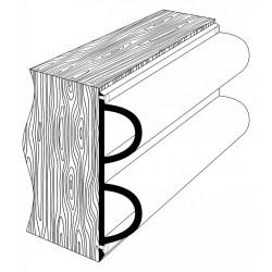 Привальник Dek-King форма 2D, черный 4м