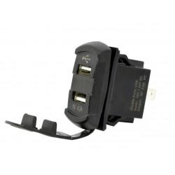 Розетка USB SunFine Marine 2 выхода и Вольтметр