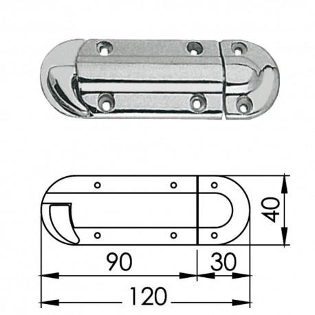Защелка двери Osculati подпружиненная 120 мм