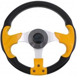 Рулевое колесо SunFine диаметр  330мм желто-черный