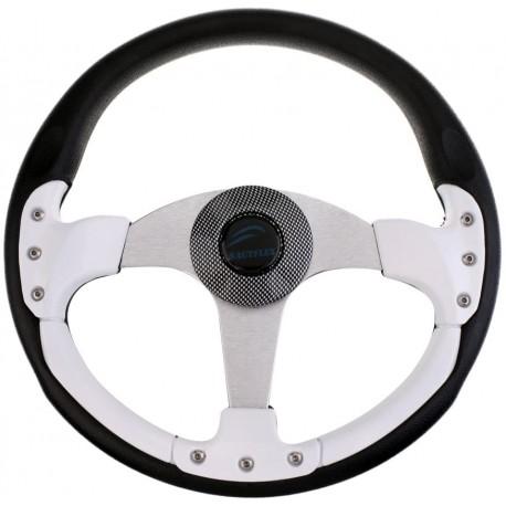 Рулевое колесо SunFine диаметр 360мм бело-черное